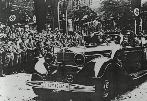 Adolf and his Benz. Picture courtesy Express.de