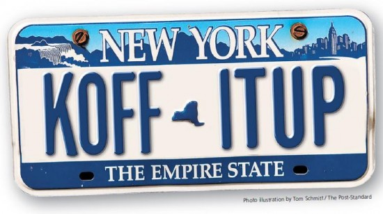 Not the actual plate (courtesy: syracuse.com)