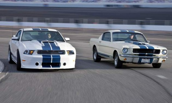 A Shelby GT350 pictured here with a tragic example of America's obesity epidemic