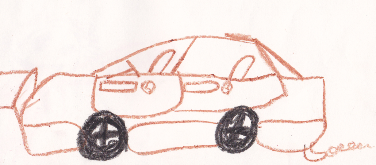 how to draw a ferrari for kids