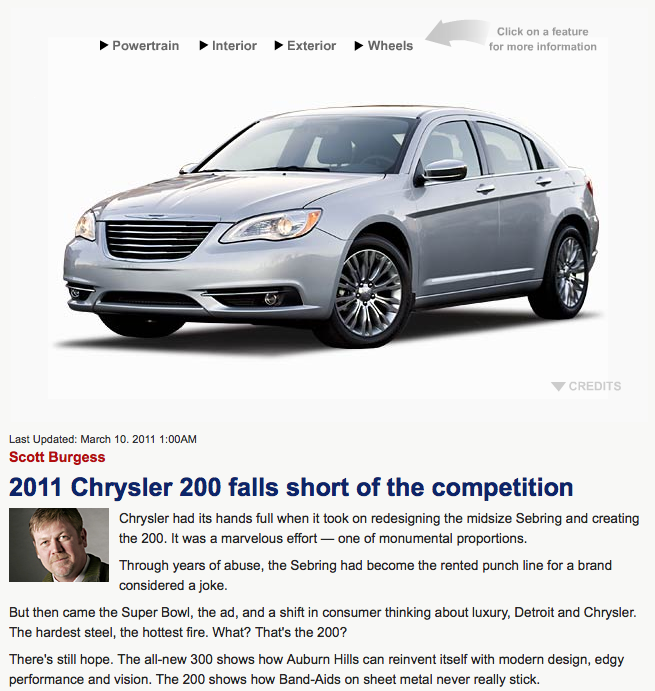 DetNews Auto Critic Resigns Over Chrysler 200 Review Edits
