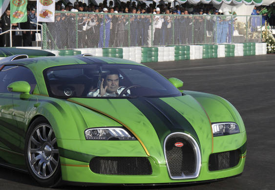turkmenistan president wins car race  volkicar  truth  cars
