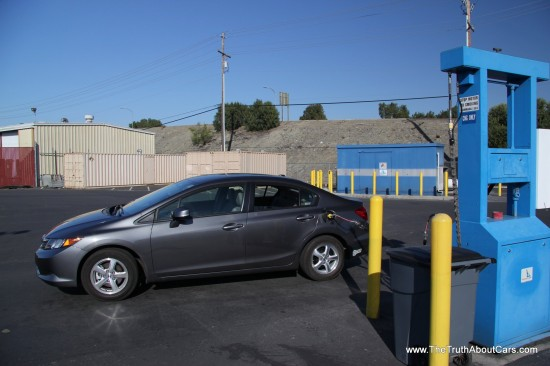 Review 2012 honda civic natural gas the truth about cars for Honda civic natural gas for sale
