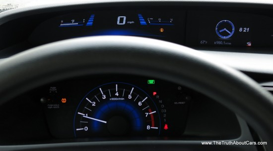 2013 Honda Civic EX, Interior, Split-Leven Instrument Cluster, Gauges, Picture Courtesy of Alex L. Dykes