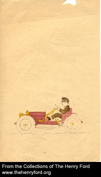 Another sketch of Edsel Ford's, this one presages his role in automotive styling